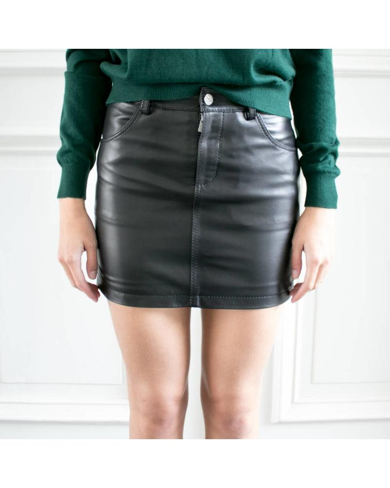 Anine Bing AB Classic leather skirt