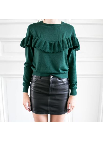Anine Bing Classic leather skirt - Black