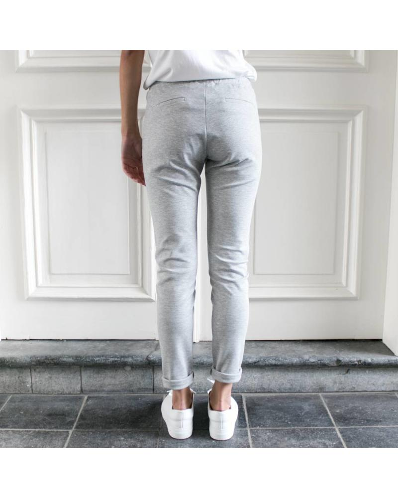 StudioRuig Thick jersey Trousers Bries - Light grey
