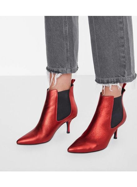 Anine Bing Stevie boots - Metallic Red