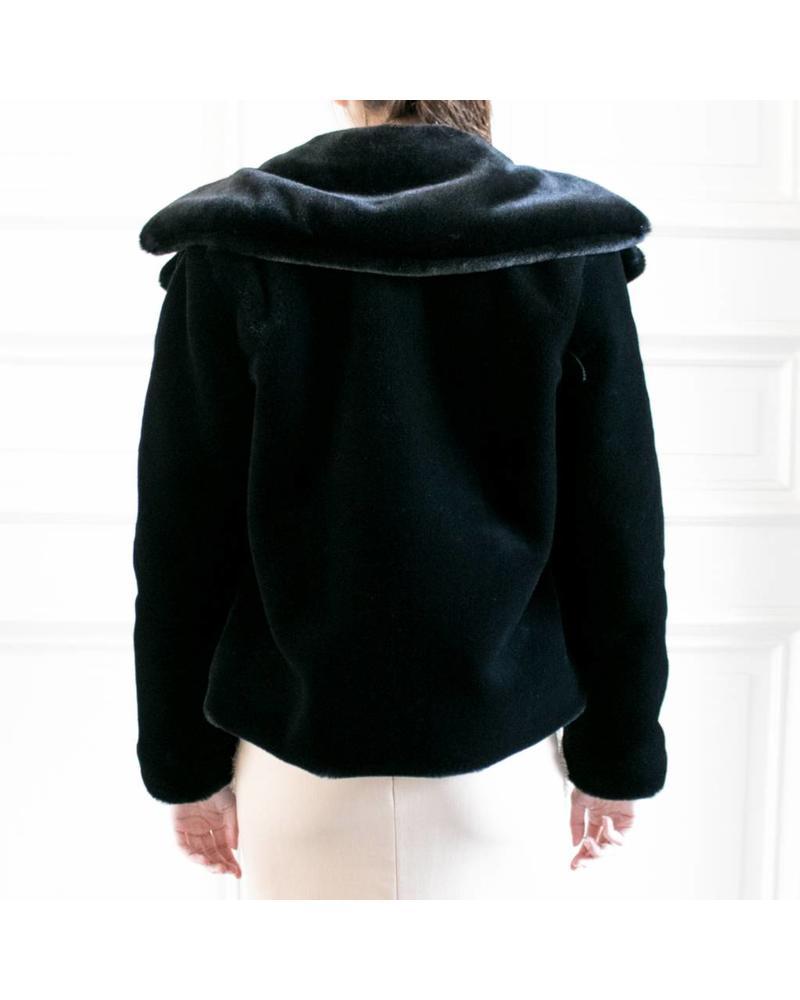 Nanushka Erso Vegan Fur - Black