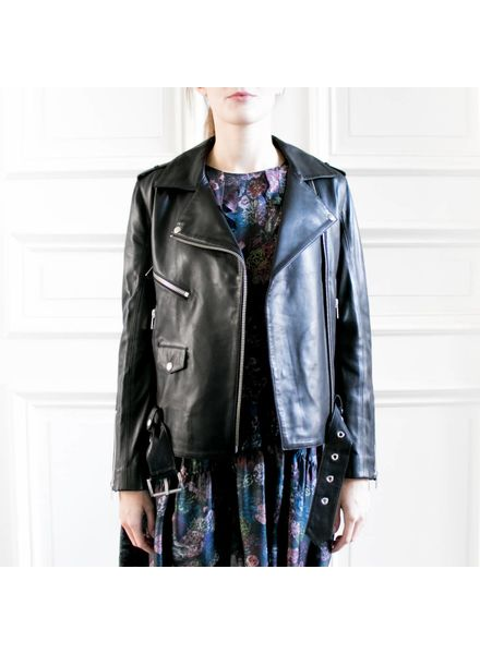 Anine Bing Soft leather jacket - Black