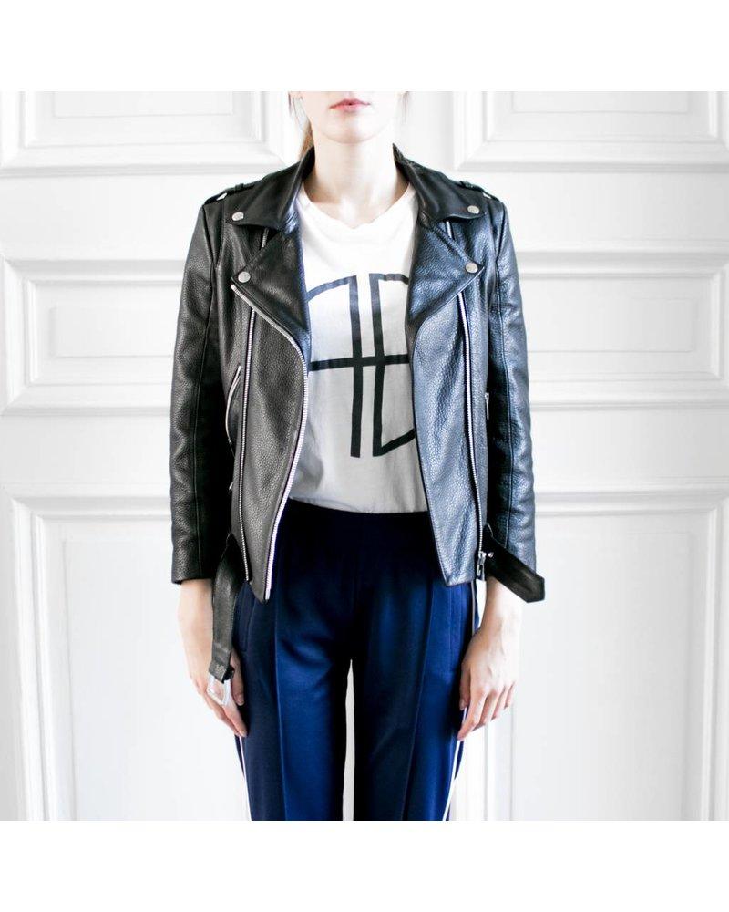 Anine Bing AB CORE Cropped Moto Jacket