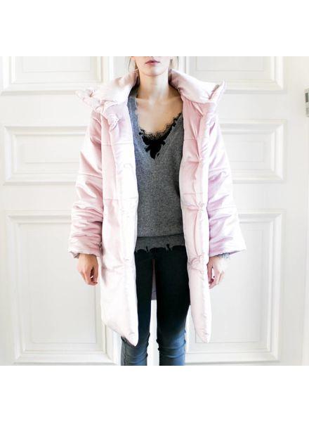 Nanushka Mask puffer coat - Pearl Pink