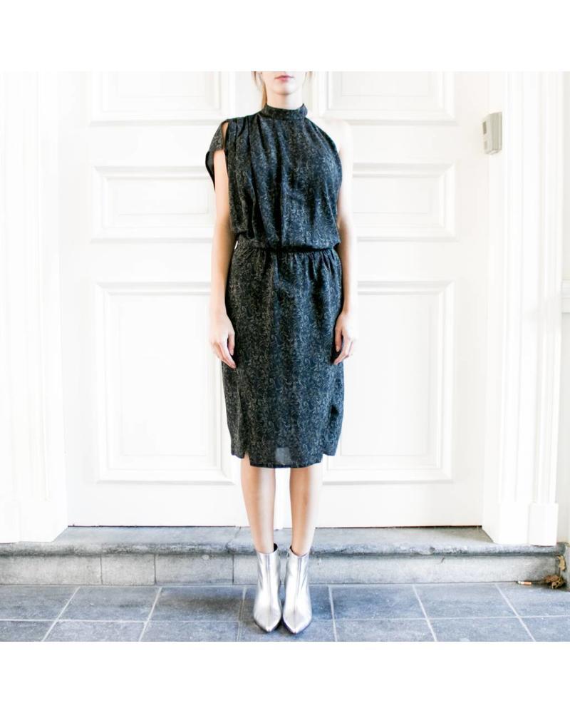 Iro Folacci dress - Black/Khaki