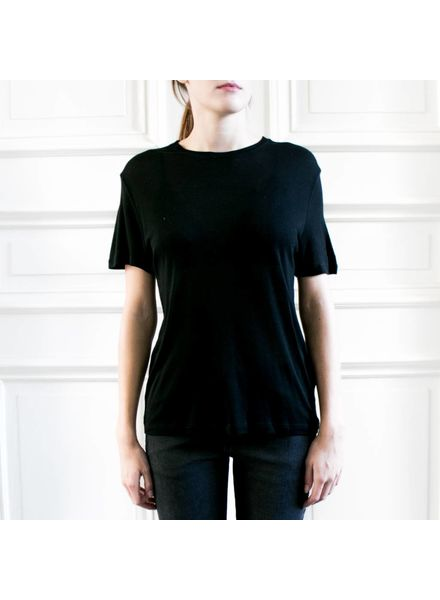 Anine Bing Crew Neck T-Shirt - Black