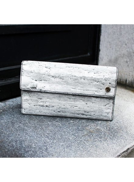 Black Tailors Long wallet Set - Travertine
