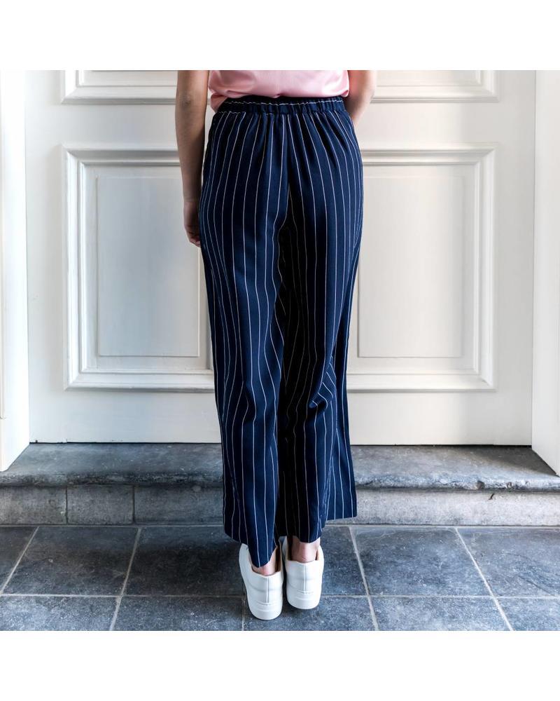 Liv The Label La palma trousers - Navy stripes