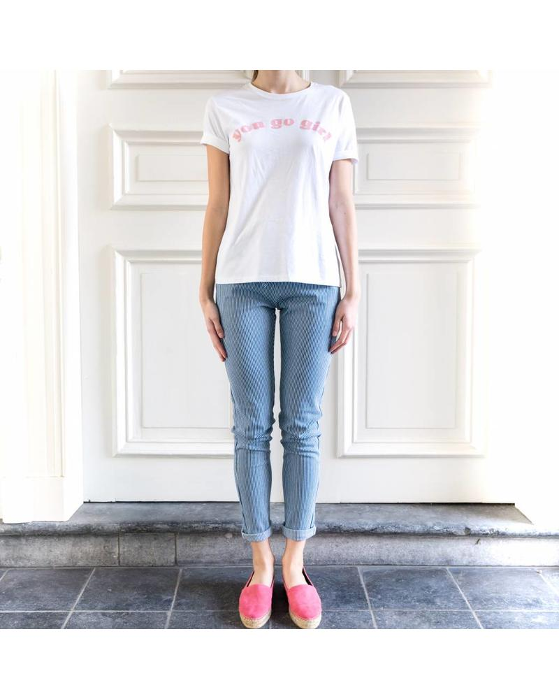 Liv The Label Queen tee 'go girl' - White