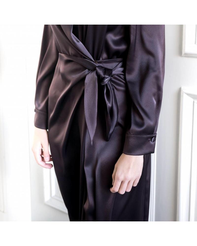 Nanushka Ezra Satin Dress - Java