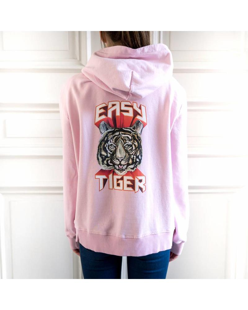 Liv The Label Antigua hoodie 'Easy Tiger' - Pink