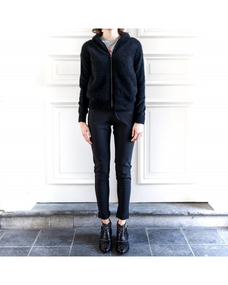 CT Plage Racoon hoodie with zip - Black