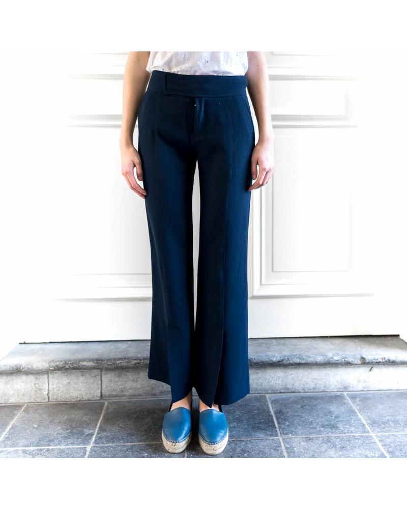 Hope Sweep trouser - Dk Navy