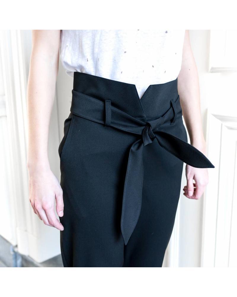 Nanushka Jude - Paperbag waist pants - Black