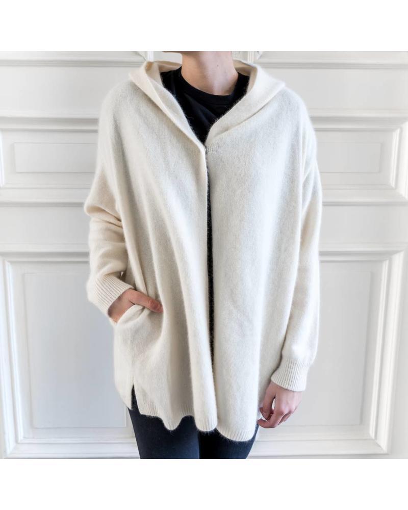 CT Plage Racoon hoodie - White