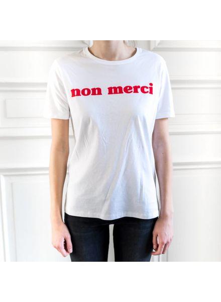 Liv The Label Nirvana tee 'Merci' - White