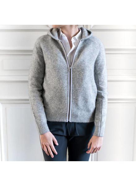 CT Plage Racoon hoodie with zip - L grey