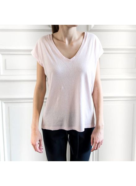 Liv The Label Pianosa V-neck tee - Soft Pink