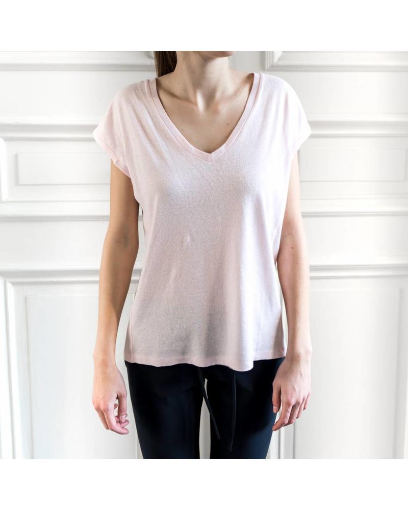 Liv The Label Pianosa V-neck tee - Soft Pink