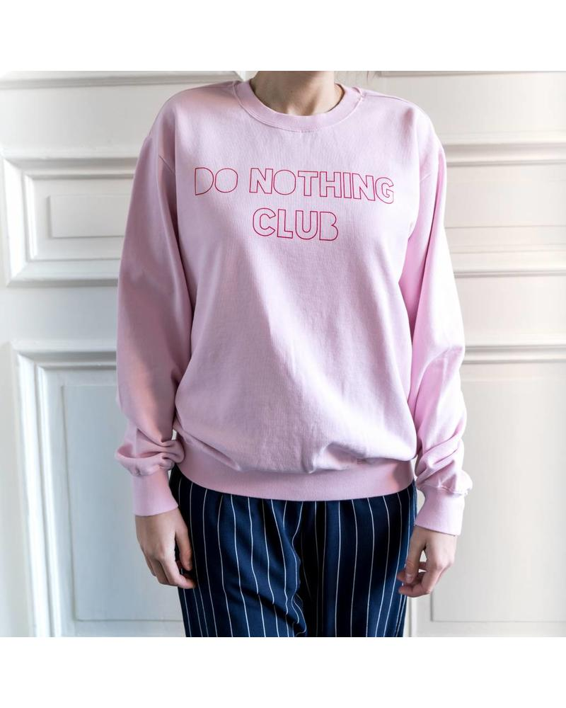 Liv The Label Kiss ' Do Nothing Club' Sweater- Pink