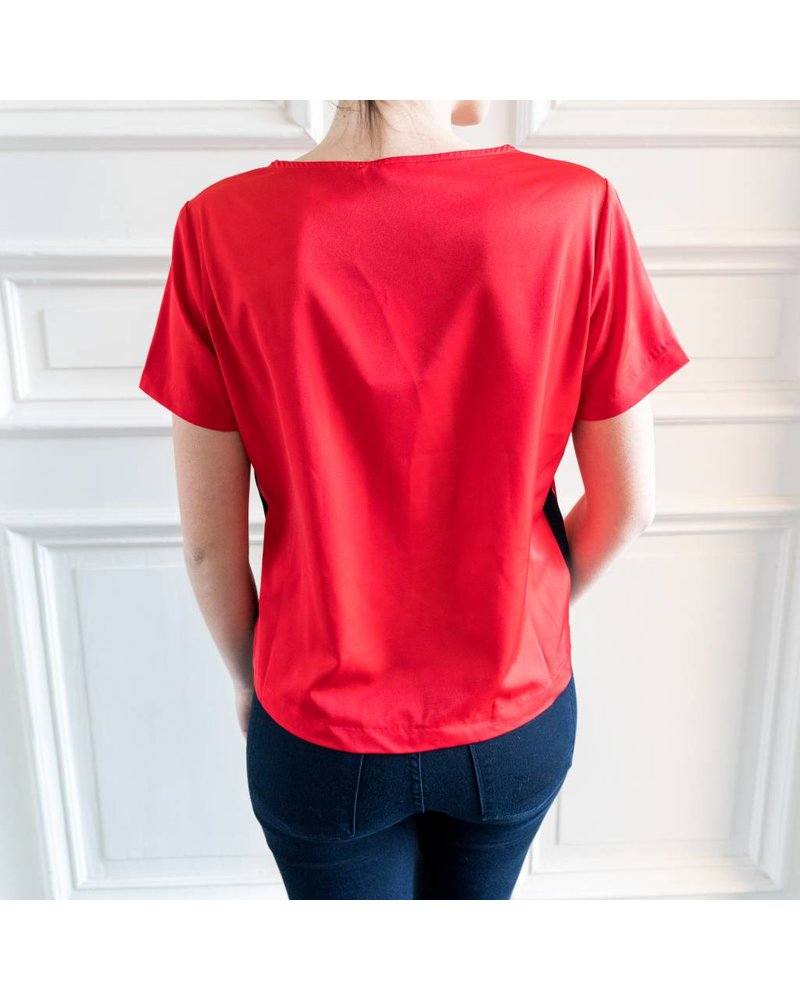 Liv The Label Bali sporty tee - Vibrant red