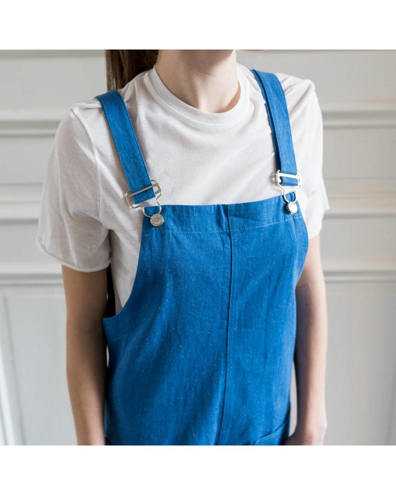 Matin Pocket Overalls Long - Blue denim