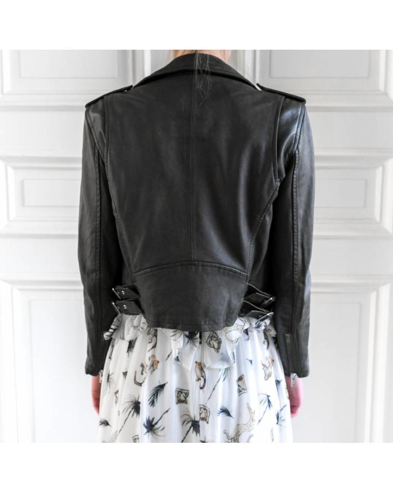 Iro Ashville Biker Jacket - Khaki