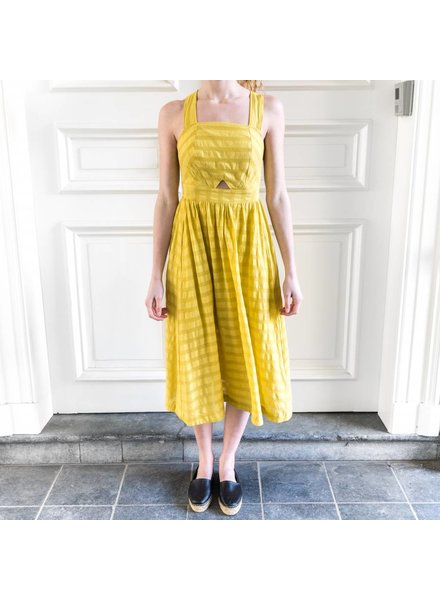 Loa by Lidia Aguilera Maxi dress open back - Ochre