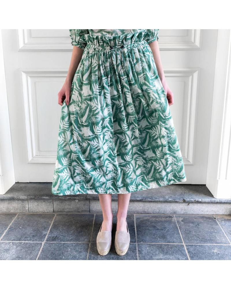 Loa by Lidia Aguilera Maxi skirt pleated waist printed - Green
