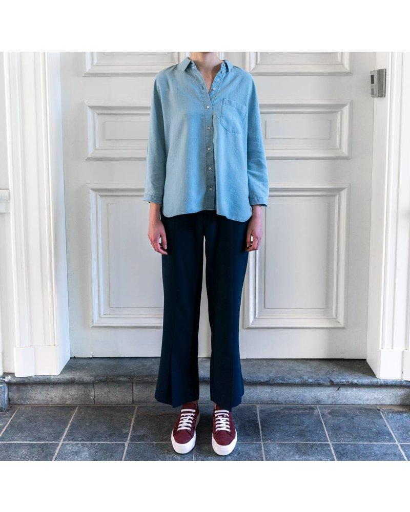 SET Casual shirt with pocket - Darkblue denim