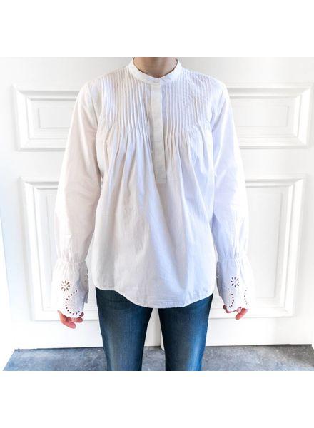 SET White blouse embroided sleeve - White