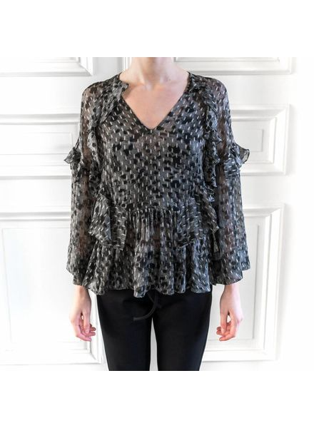 Iro Carty top - Charcoal