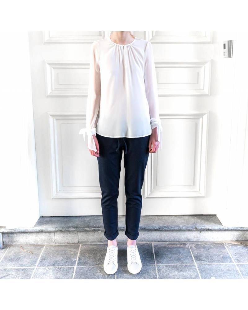 SET Tunic with tie sleeve - white