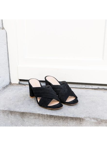 Liv The Label High Block-Heeled Sandals - Black