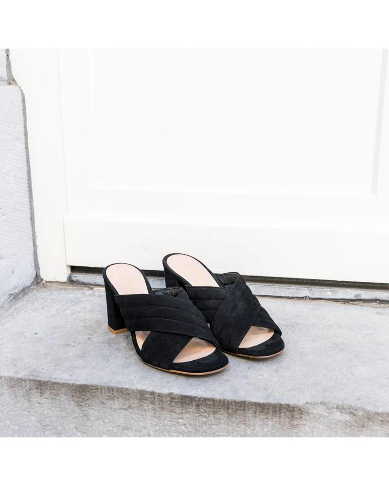 Liv The Label High Block-Heeled Sandals - Black