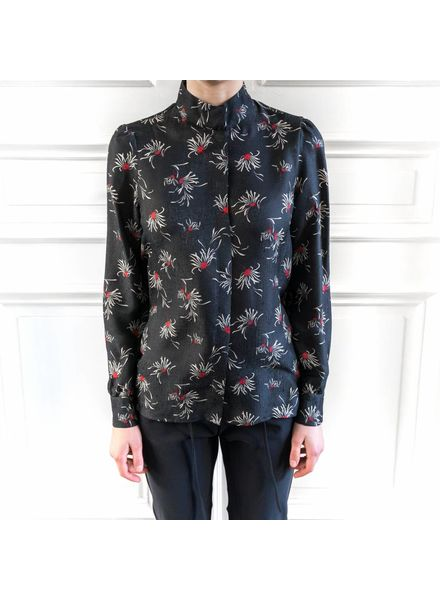 SET Blouse with floral print