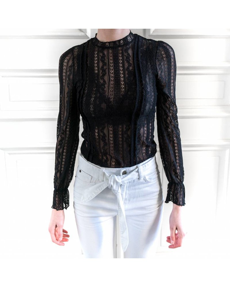 Amuse Society All about that Lace Knit - Black Sands