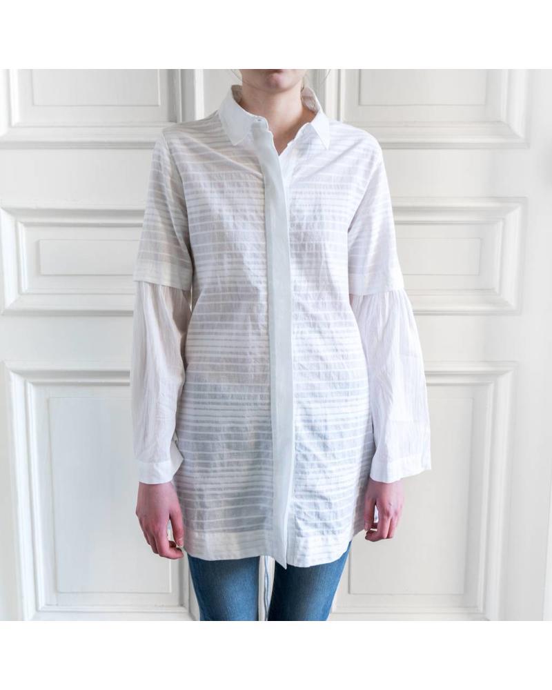 Loa by Lidia Aguilera Maxi blouse Dobby - White