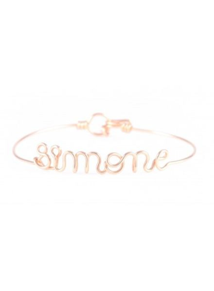 Atelier Paulin Personalised bracelet 6-10 letters - 18k yellow/rose gold