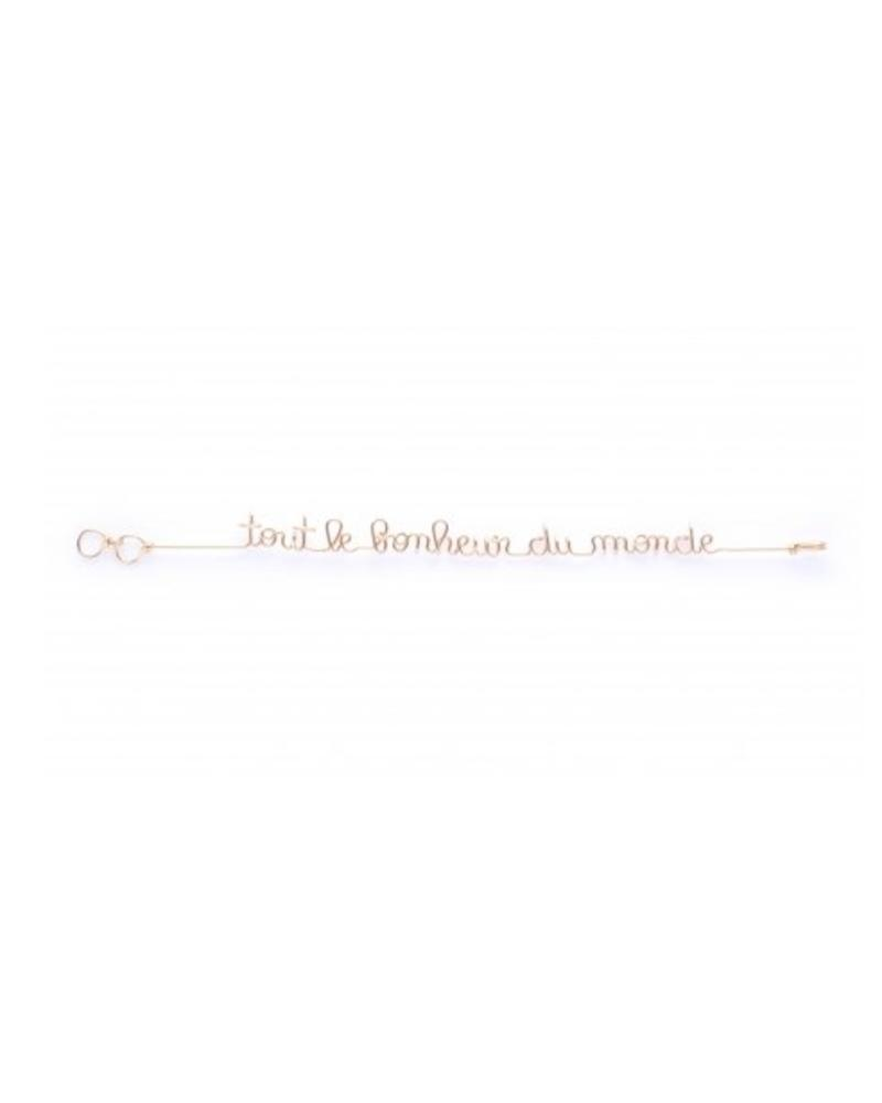 Atelier Paulin Bracelet Mantra - Tout le Bonheur du Monde