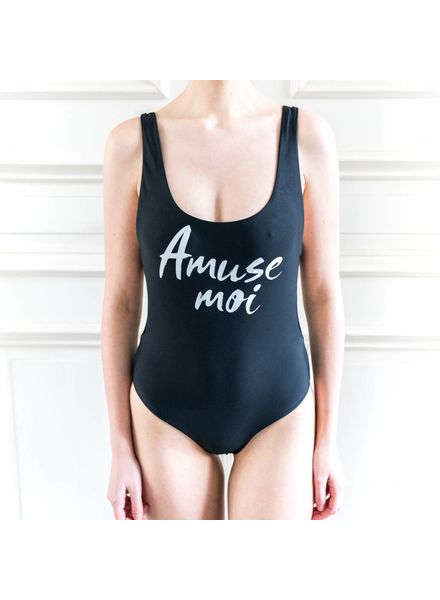 Amuse Society Evie one Piece - Solid Black