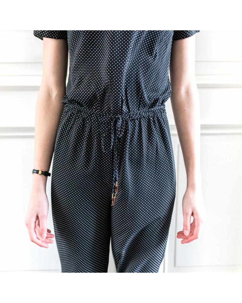 Nanushka Lala jumpsuit - Caviar dot