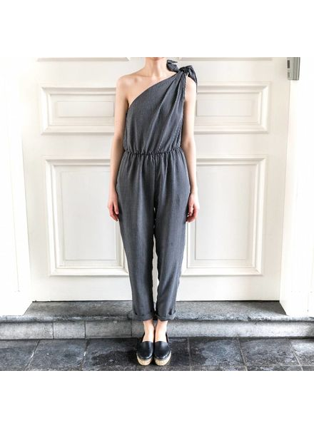 Nanushka Nyla jumpsuit - Black/White