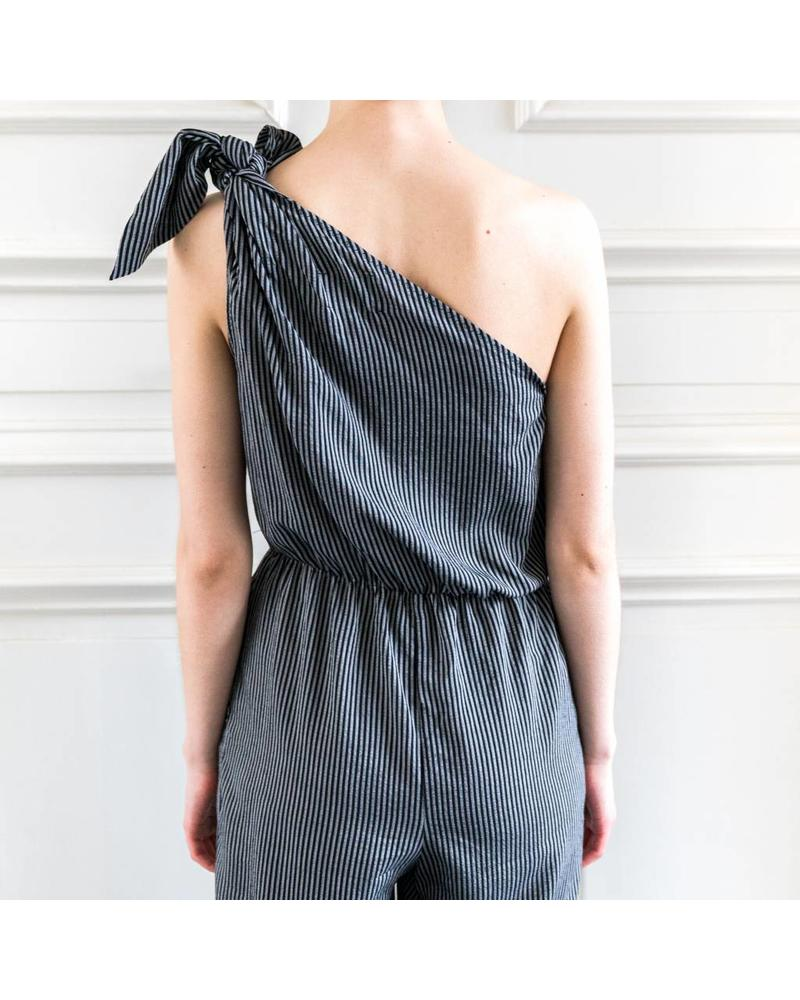 Nanushka Nyla jumpsuit - Black/White