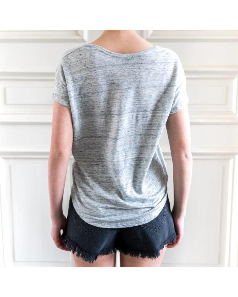 SET Linen Tee - Light grey