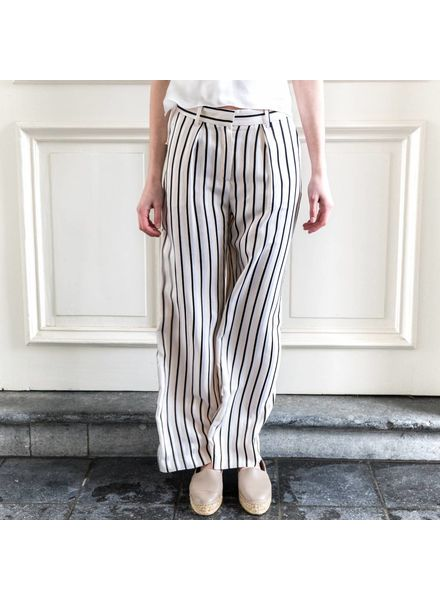 Margaux Lonnberg Hector pantalon - Off white stripes