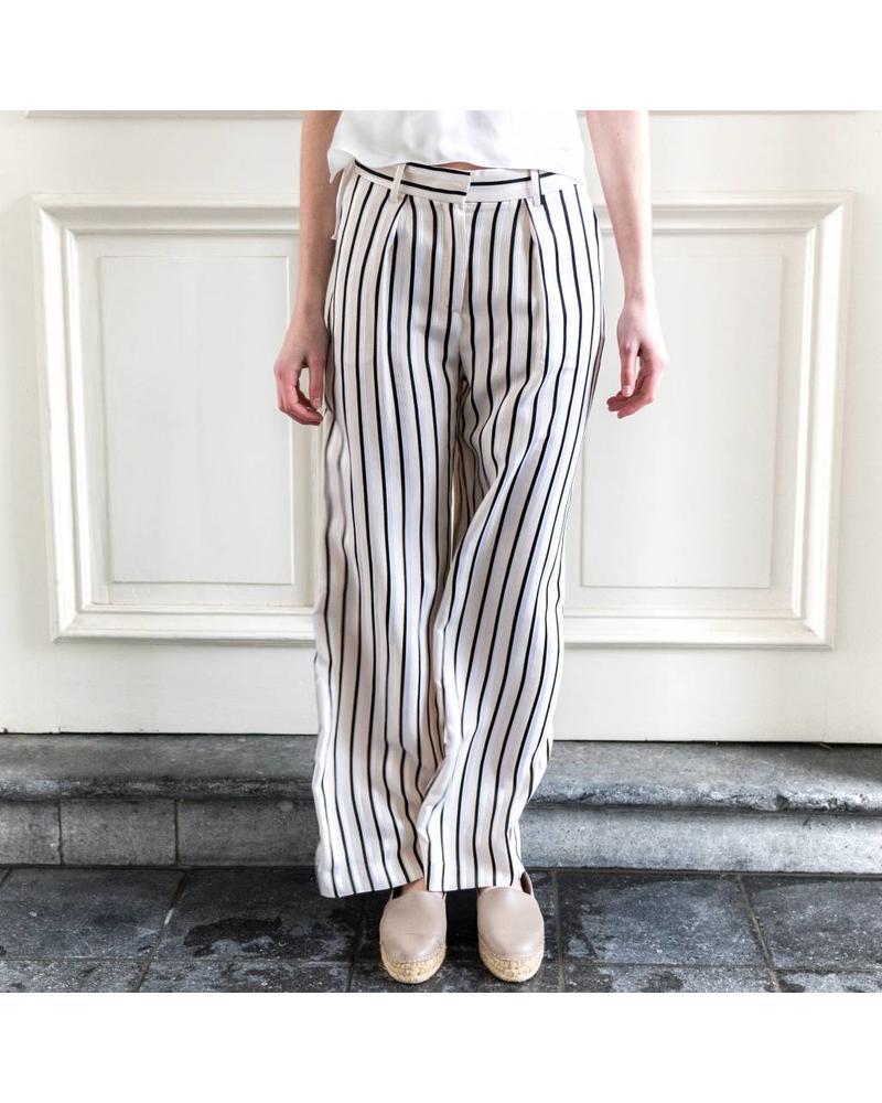 Margaux Lonnberg Hector pantalon - Off white stripes