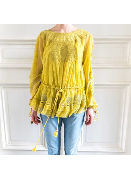 Loa by Lidia Aguilera Oversized Blouse cotton - Ochre