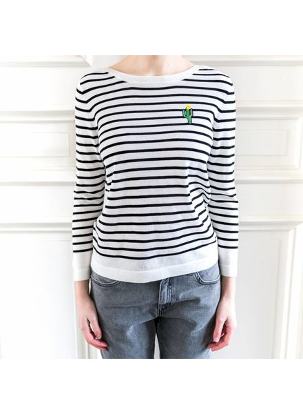 SET Striped jumper - White/Black