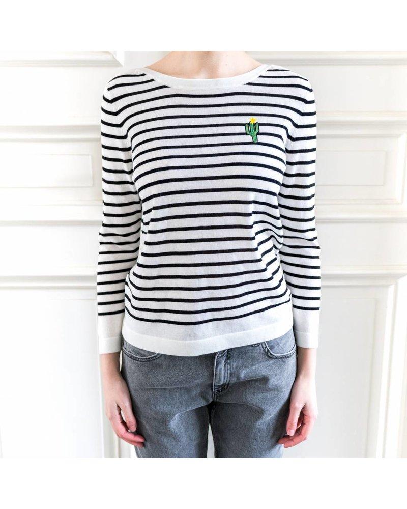 SET Striped jumper - White/Black